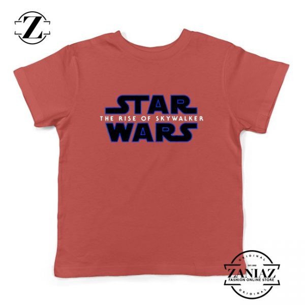 The Rise of Skywalker Movie Kids Shirts Star Wars Youth T-Shirt Red