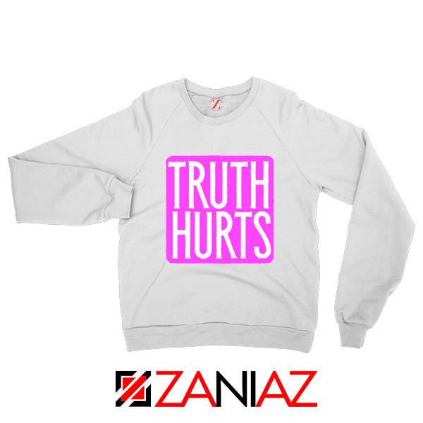 Truth Hurts Lyrics Sweatshirt Lizzo Singer Sweatshirt Size S-2XL White