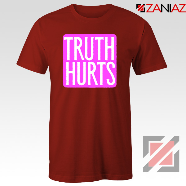 Truth Hurts Lyrics T-Shirt Lizzo Singer Woman Tee Shirt Size S-3XL Red