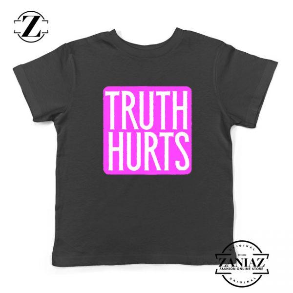 Truth Hurts Lyrics Youth Shirts Lizzo Singer Kids T-Shirt Size S-XL Black