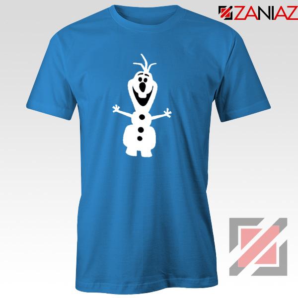 Warm Hug T-Shirt Olaf Disney's Frozen Tee Shirt Size S-3XL Blue