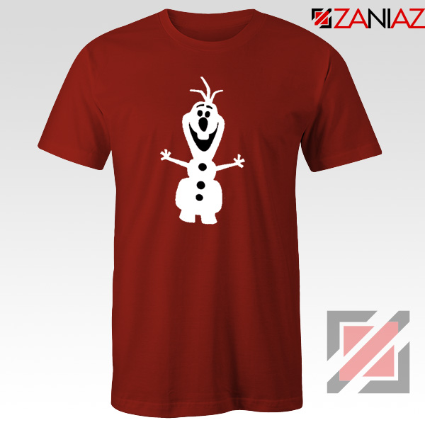 Warm Hug T-Shirt Olaf Disney's Frozen Tee Shirt Size S-3XL Red