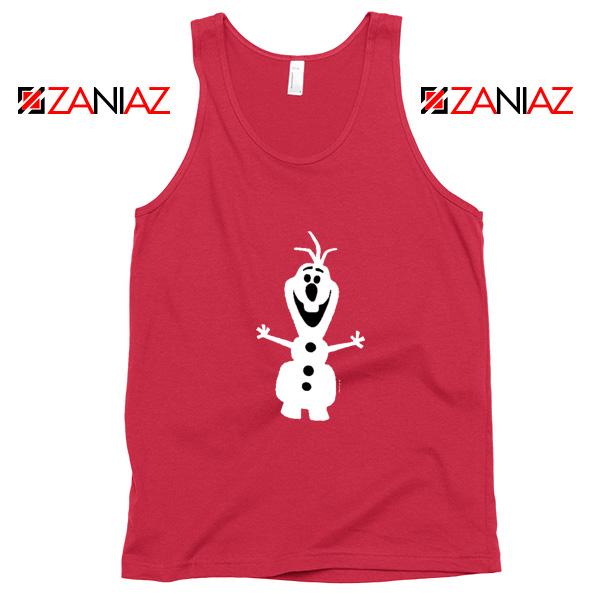 Warm Hug Tank Top Olaf Disney's Frozen Tank Top Size S-3XL Red