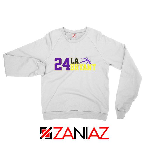 24 Kobe Bryant White Sweaters