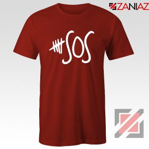 5sos Merch Red Tshirt