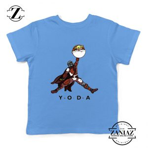 Air Jordan Kids Tshirt Air Yoda The Mandalorian Youth Tee Shirts S-XL