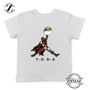Air Jordan Kids Tshirt Air Yoda The Mandalorian Youth Tee Shirts S-XL White