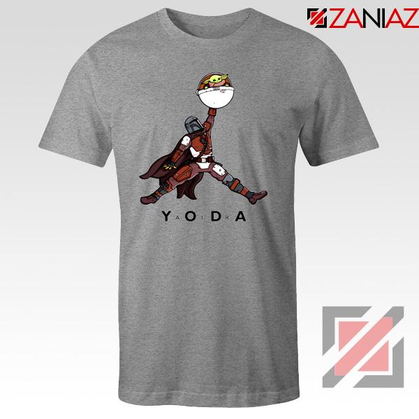 Air Jordan Tshirt Air Yoda The Mandalorian Tee Shirts S-3XL Sport Grey