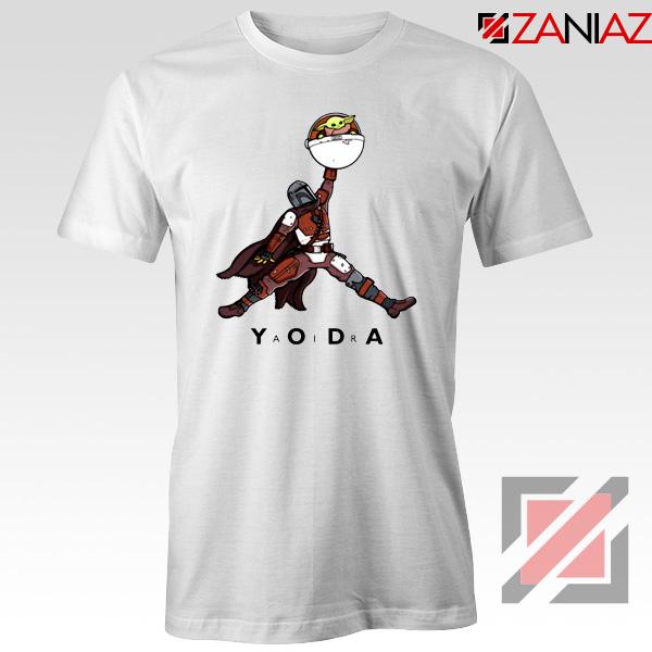 Air Jordan Tshirt Air Yoda The Mandalorian Tee Shirts S-3XL White