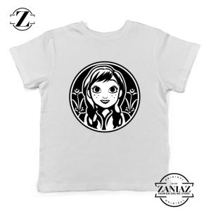 Anna Frozen Kids Tshirt Princess Disney Youth Tee Shirts S-XL White
