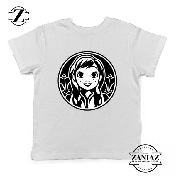 Anna Frozen Kids Tshirt Princess Disney Youth Tee Shirts S-XL White