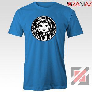 Anna Frozen Tshirt Princess Disney Tee Shirts S-3XL Blue