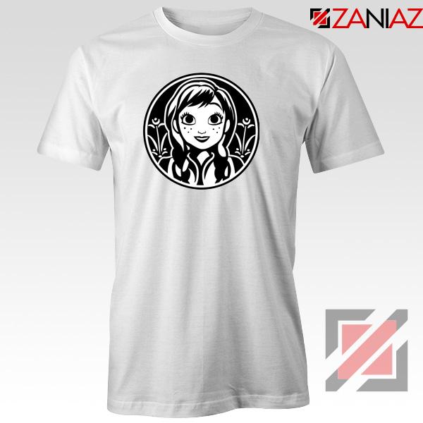 Anna Frozen Tshirt Princess Disney Tee Shirts S-3XL White