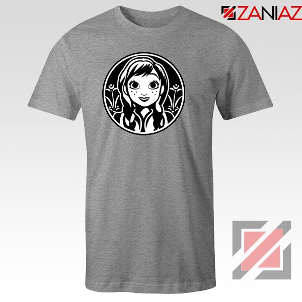 Anna Frozen Tshirt Princess Disney Tee Shirts S-3XL