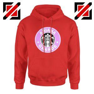 Ariana Grande Starbucks Red Hoodie