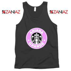 Ariana Grande Starbucks Tank Top Coffee Logo Tops S-3XL