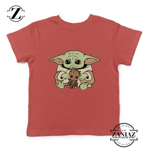 Baby Yoda Baby Groot Kids Tshirt Disney Youth Tee Shirts S-XL