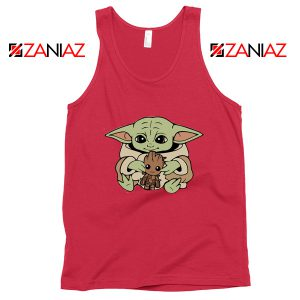 Baby Yoda Baby Groot Tank Top Disney Tops Size S-3XL
