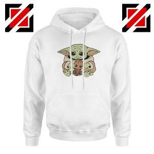 Baby Yoda Baby Groot White Hoodie