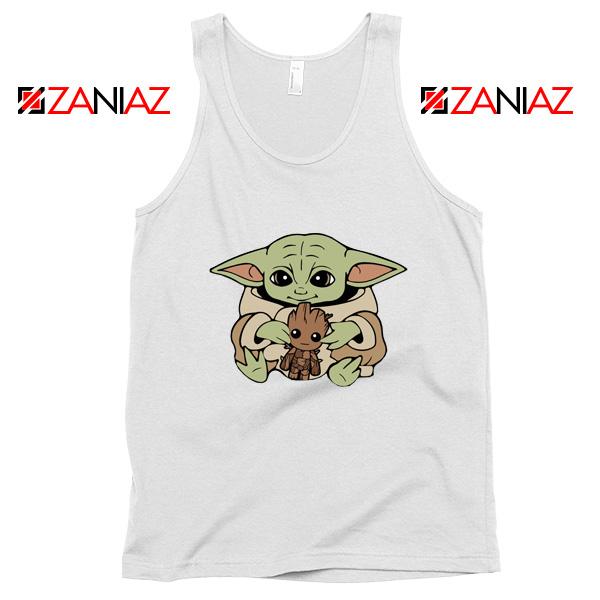 Baby Yoda Baby Groot White Tank Top