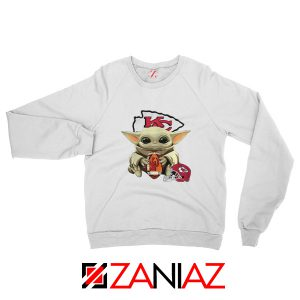Baby Yoda Kansas City Chiefs White Sweatshirt