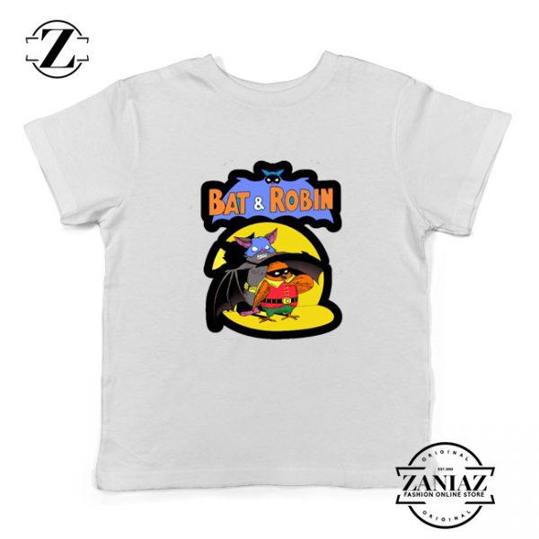 Bat and Robin White Kids Tshirt