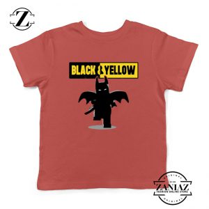 Batman Bat and Yellow Kids Tshirt Dark Knight Film Youth Tees
