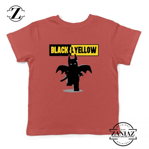 Batman Bat and Yellow Kids Tshirt Dark Knight Film Youth Tees