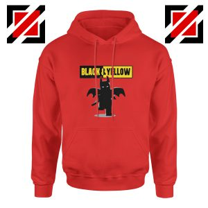 Batman Bat and Yellow Red Hoodie