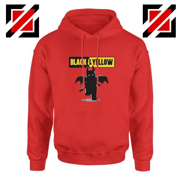 Batman Bat and Yellow Red Hoodie