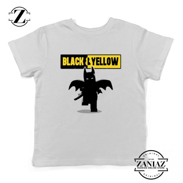 Batman Bat and Yellow White Kids Tshirt