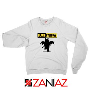 Batman Bat and Yellow White Sweatshirt