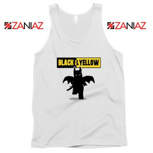 Batman Bat and Yellow White Tank Top
