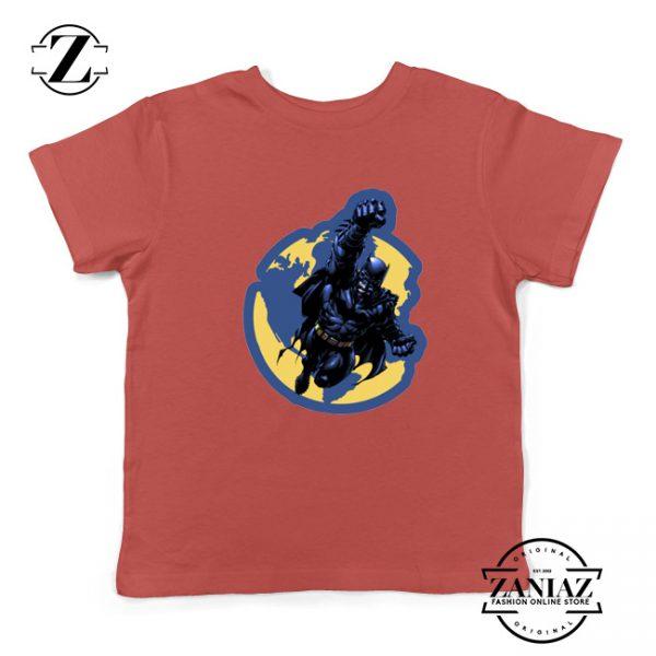 Batman Marvel Red Kids Tshirt