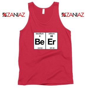 BeEr Chemistry Tank Top Elemental Chemistry Tank Top Size S-3XL Red