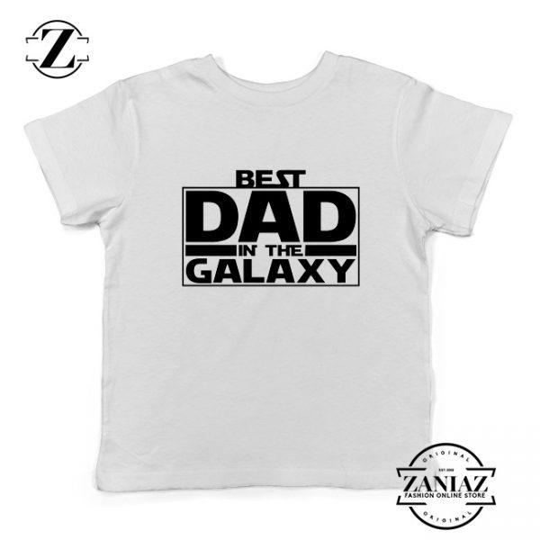 Best Dad In The Galaxy Youth Tshirt Starwars Merch Kids Tee Shirts S-XL