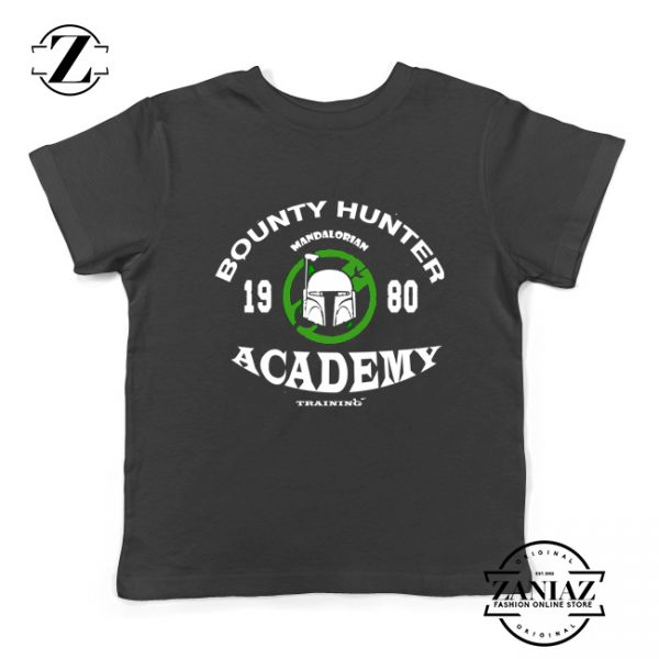 Bounty Hunter Mandalorian Kids Tee Shirt Star Wars Youth Tshirts S-XL Black
