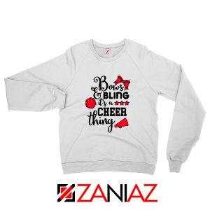 Buy Cheer Bling Sweatshirt Cheerleading Best Sweatshirt Size S-2XL White