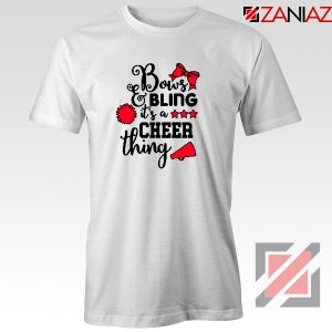 Buy Cheer Bling Tee Shirt Cheerleading Best T-Shirt Size S-3XL White