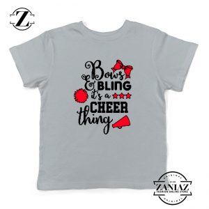 Buy Cheer Bling Youth Shirts Cheerleading Best Kids T-Shirt Size S-XL White
