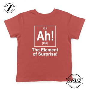 Buy Element of Surprise Kids Shirts Best Funny Chemistry Youth Shirt Red