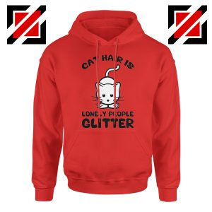 Buy Lonely People Glitter Hoodie Cat Lover Best Hoodie Size S-2XL Red