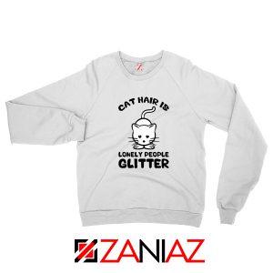 Buy Lonely People Glitter Sweatshirt Cat Lover Best Sweatshirt Size S-2XL White