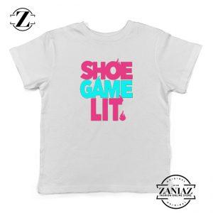 Buy Tennis Shoe Matching Kids Shirts Sneaker Youth T-Shirt Size S-XL White