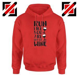 Buy Womens Running Hoodie Funny Gym Best Hoodie Size S-2XL Red