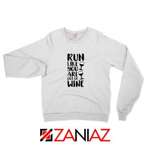 Buy Womens Running Sweatshirt Funny Gym Best Sweatshirt Size S-2XL White
