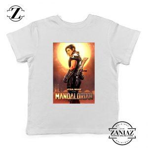 Cara Dune Poster Youth Tshirt Star Wars The Mandalorian Kids Tee Shirts
