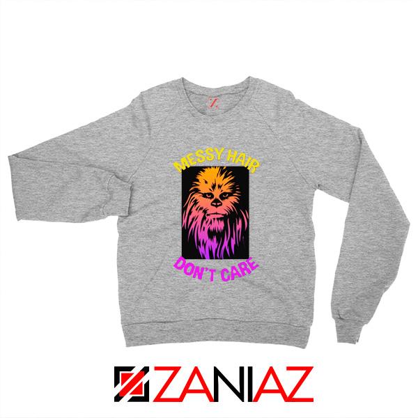 Chewbacca Sweatshirt Star Wars Characters Best Sweaters S-2XL Sport Grey