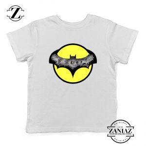Dark Knight Graphic White Kids Tshirt