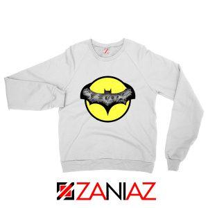 Dark Knight Graphic White Sweatshirt